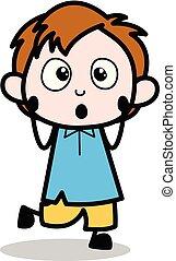 Lovely - School Boy Cartoon Character Vector Illustration