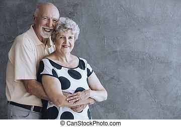 Lovely senior couple