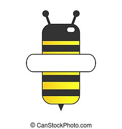 Lovely simple design of a yellow and black bee