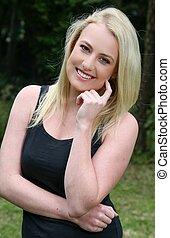 Lovely Smiling Blond Girl