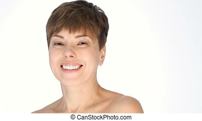 Lovely smiling middle aged female