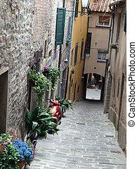 lovely, steep and narrow streets of Cortona. Tuscany