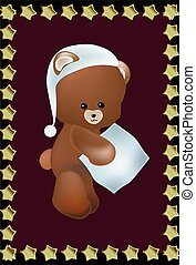 Teddie bear with a pillow - lovely Teddie bear with a pillow...