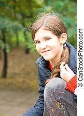 Lovely teen girl outdoor