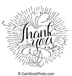 Thank you calligraphy design