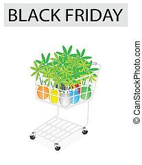 Lovely Tree Pot in Black Friday Shopping Cart