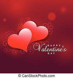 lovely valentine's day heart background design