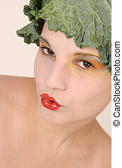 Lovely vegetable girl