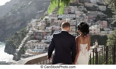 Lovely young couple wedding in Positano