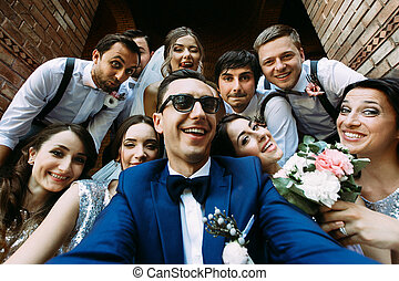 Lovely young people in the wedding day