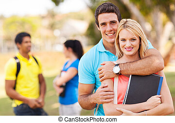 lovely young university couple