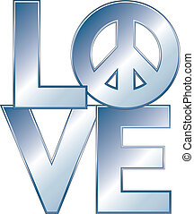 LOVE=Peace Blue