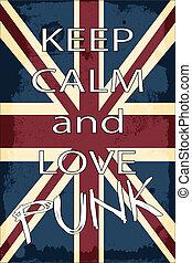 lovepunk - united kingdom union jack flag, illustration...