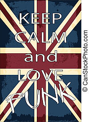 lovepunk - united kingdom union jack flag, illustration...