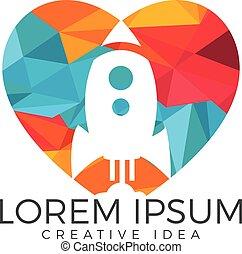 Lover Rocket Logo Design.
