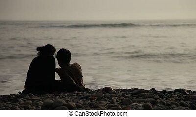 Lovers At Beach