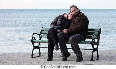 lovers at coast