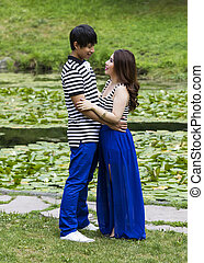 Lovers at the Pond