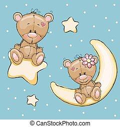 Lovers Bears - Valentine card with Lovers Teddy Bears on a ...