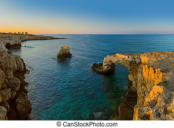 Lovers bridge at sunrise in Ayia Napa Cyprus - nature ...
