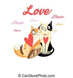 Lovers funny cats