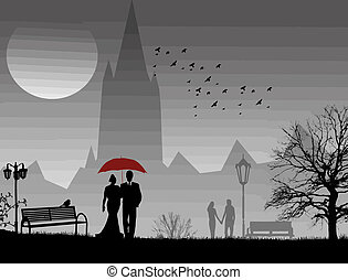 Lovers in a park