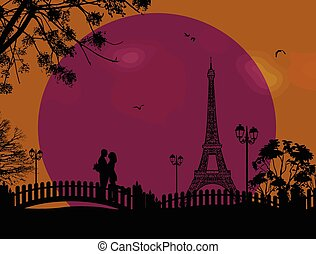 Lovers in Paris