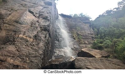 Lovers leap waterfall in Nuwara Eliya, Sri Lanka.