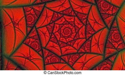 Lovers Red Spider Web Flower