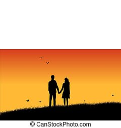 Loving couple - Loving young couple during sunset