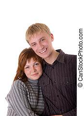 Loving couple portrait