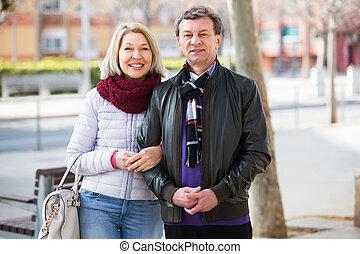 Loving couple posing togethe