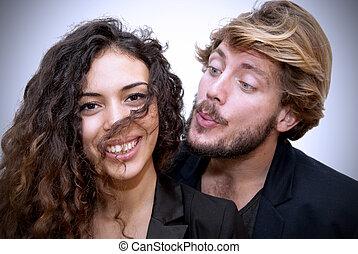 Loving couple - Beautiful portrait of a loving couple