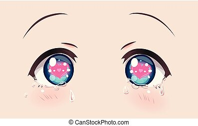 Loving crying eyes, anime (manga) girls.