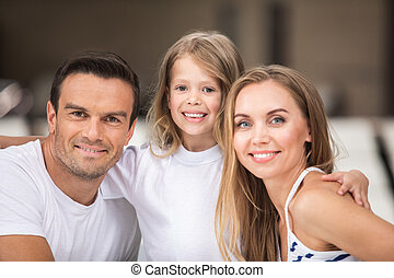 Loving family spending time together with joy