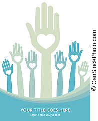 Loving hands design. - Loving hands design with copy space.