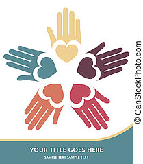 Loving hands design vector. - Loving hands design with space...