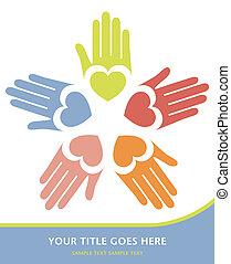 Loving hands vector.  - Loving hands vector design.
