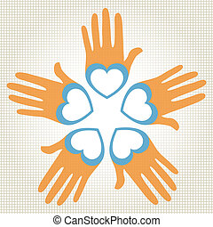 Loving hands vector.  - Loving hands vector design.