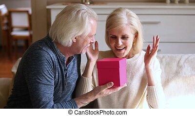 Loving husband prepare for wife surprise family celebrating...