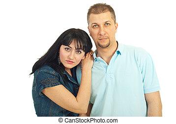 Loving mid adult couple