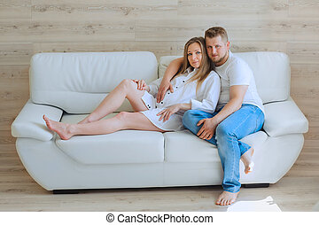 Loving pregnant couple
