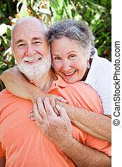 Loving Senior Couple - Senior couple still together and...