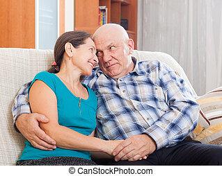 loving senior couple together