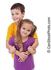 Loving siblings - isolated