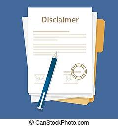 lovlig, avis, underskrevet, aftalen, disclaimer, frimærke, dokument