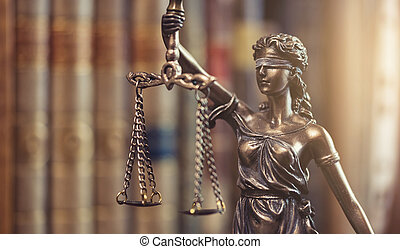 lovlig, lov, begreb, image, den, statue, i, retfærdighed
