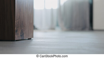Low angle blurred background indoor appartments