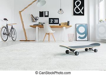 Low angle of minimalist room