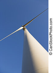 Low angle of wind turbine.